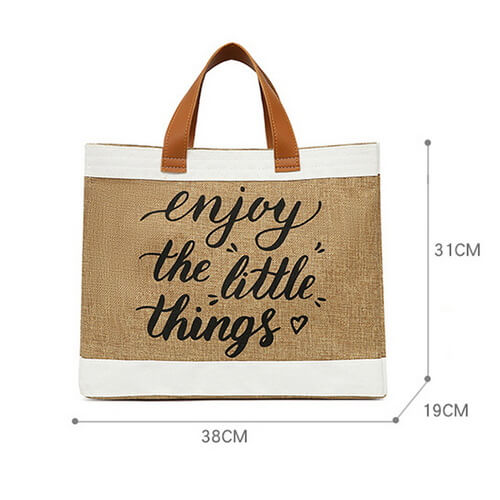 Everyday Fashion Jute Tote Bags Wholesale