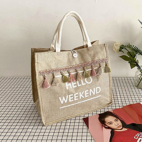 extra large jute beach tote bags wholesale