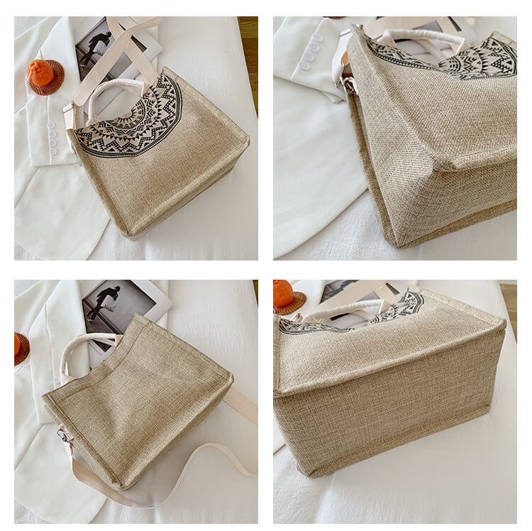 the details of jute shopping tote bags