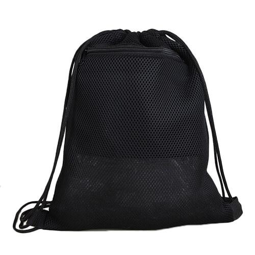 Custom Black Mesh Drawstring Backpack Wholesale