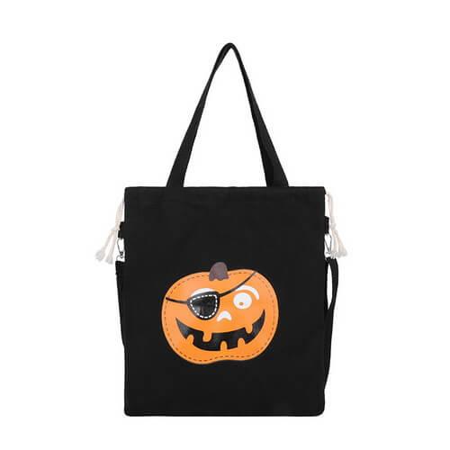 black halloween canvas tote bags