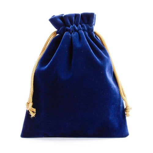 blue Velvet Drawstring Bags Wholesale