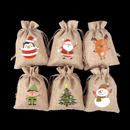 burlap santa sack wholesale