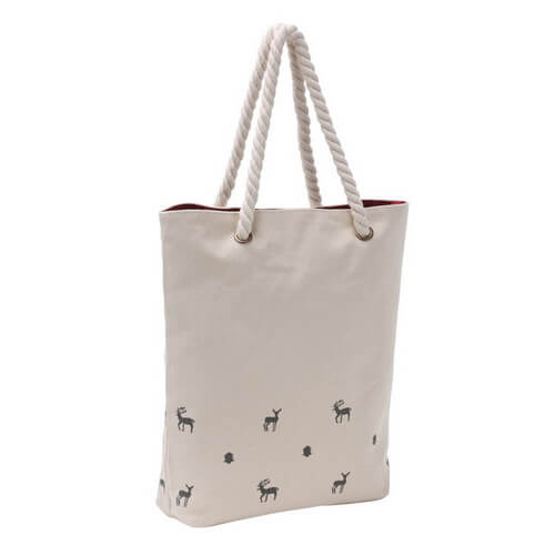 custom canvas tote bags with rope handles in bulk