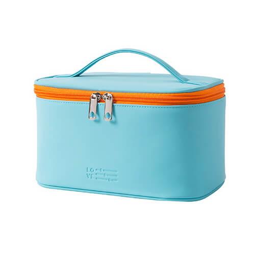 custom green portable PU wholesale cosmetic case
