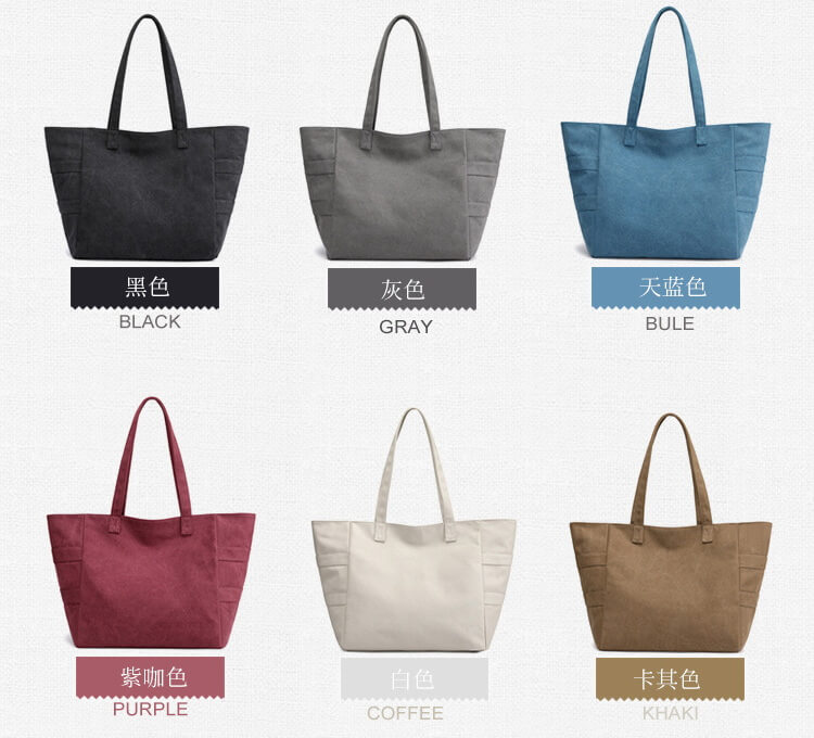 different color for large canvas tote bags bulk