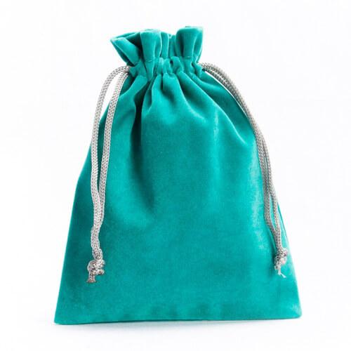 green Velvet Drawstring Bags Wholesale