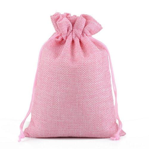 pink hemp drawstring bags wholesale