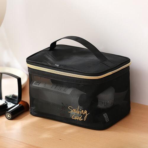 portable wholesale mesh cosmetic bag