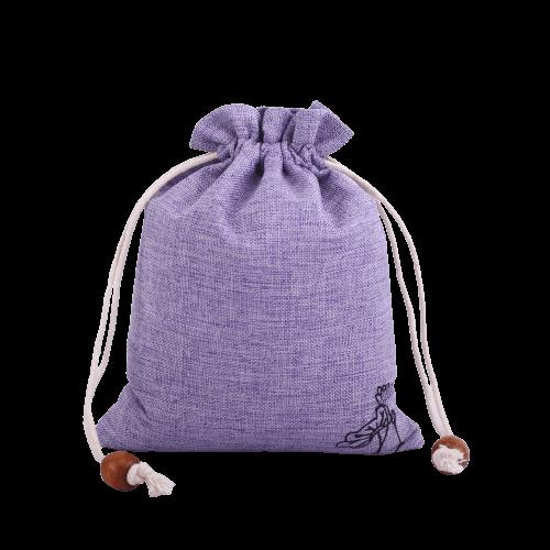 purple drawstring burlap bags