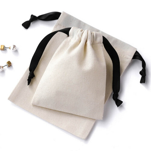 small cotton drawstring bags wholesale
