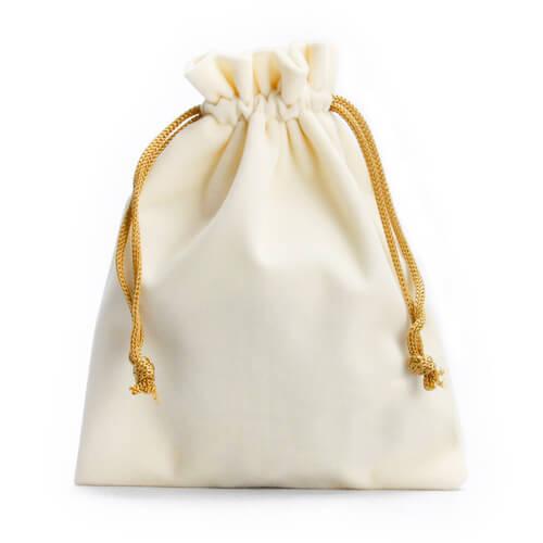 white Velvet Drawstring Bags Wholesale