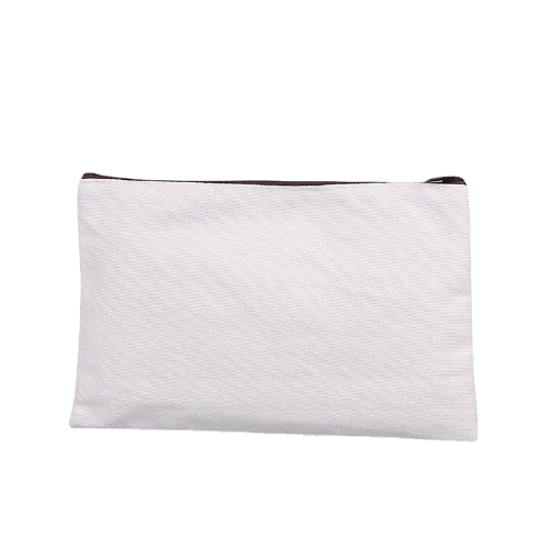 white plain blank canvas cosmetic bags wholesale