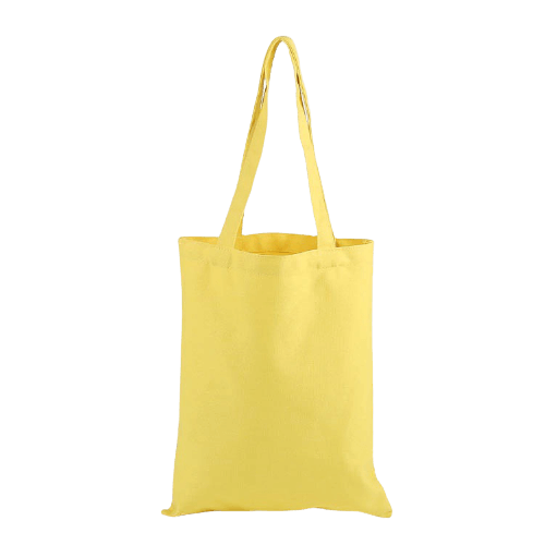 yellow canvas tote bags