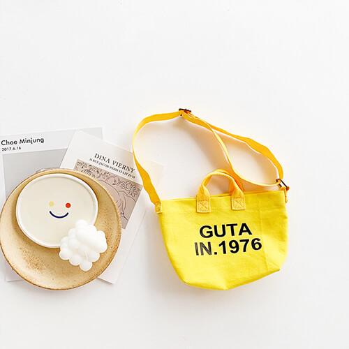 yellow mini canvas tote bag