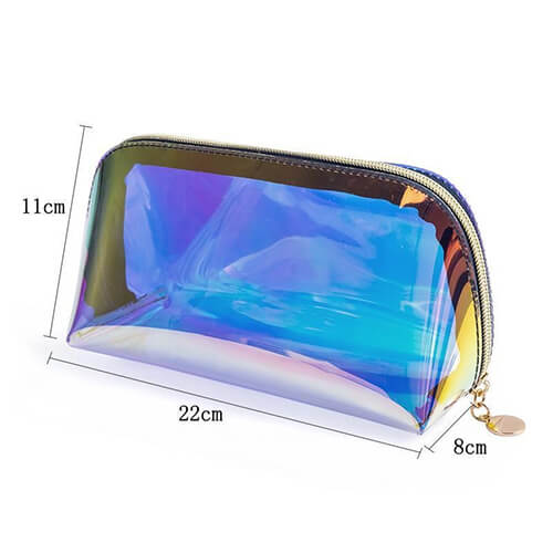 zippered holographic makeup bags wholesale