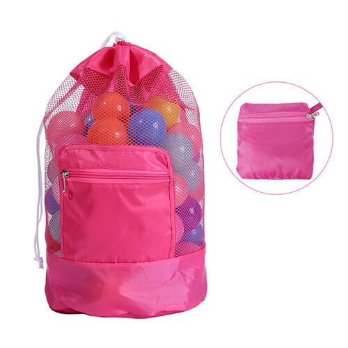 Drawstring Mesh Beach Backpacks Wholesale for Toys