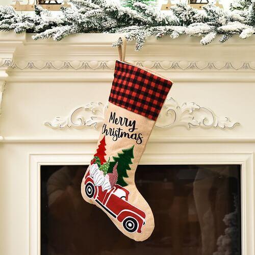 Personalized Burlap Christmas Stocking Wholesale