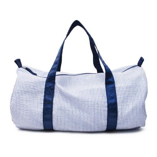 blue bulk of duffle bags seersucker