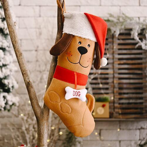brown dog christmas stockings wholesale