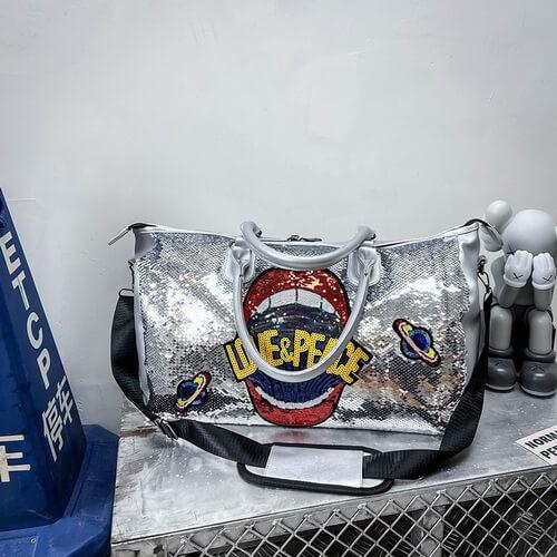 bulk of Custom Extra Large Glitter Duffle Bags Wholesale