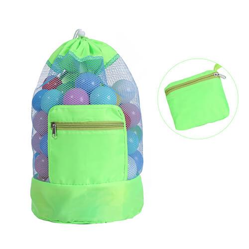 custom Drawstring Mesh Beach Backpacks Wholesale for Toys