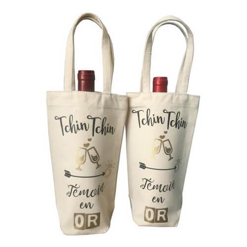 custom canvas tote wine bags wholesale