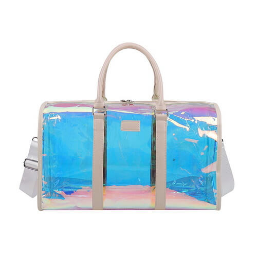 custom clear holographic duffle bags wholesale