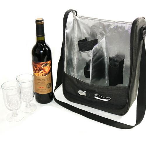 custom insulated wine bag