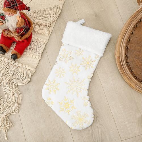 personalized white stockings