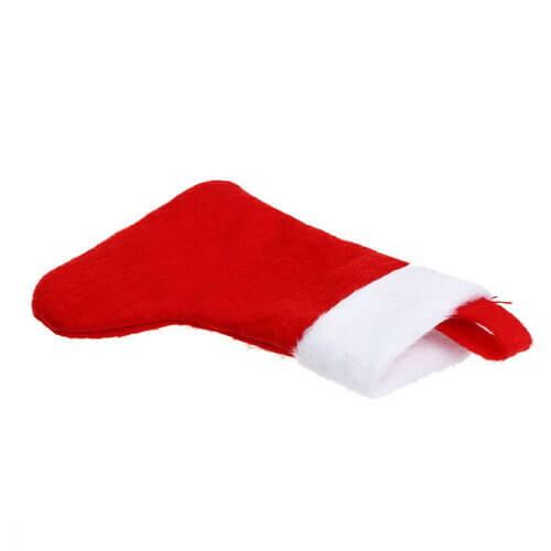 red velvet stocking personalized