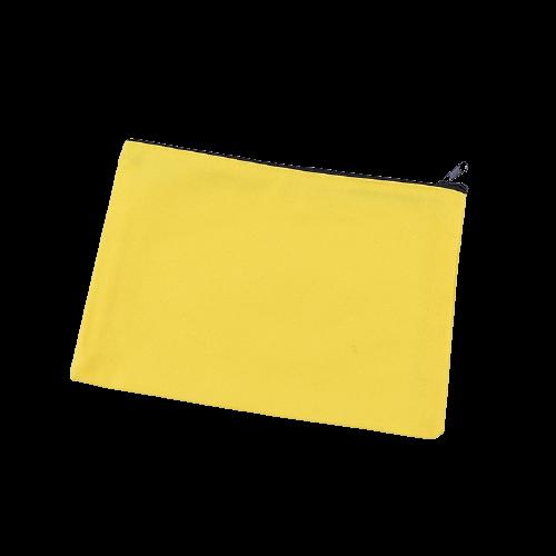 yellow Cotton Canvas Blank Pencil Case Wholesale