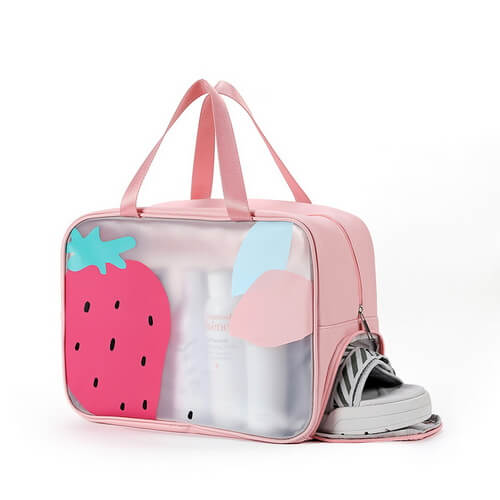 travel toiletry bag wholesale large pink